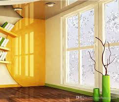 stickers for glass doors modern pvc electrostatic film flower frosted design opaque home