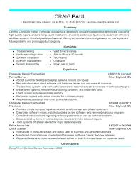 computer technician resume sample u2013 topshoppingnetwork com