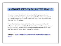 resume cover letter exles for customer service business and report writing introduction course 219 learning