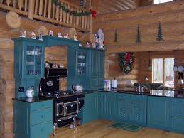 Log Cabin Kitchen Cabinets Edge Of Escape A Log Cabin Christmas