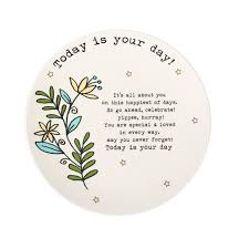 it s your special day plate today is your day plate