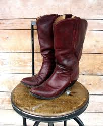 vintage cowboy boot l 6 7 vintage double eagle oxblood ladies cowboy boots el bambi