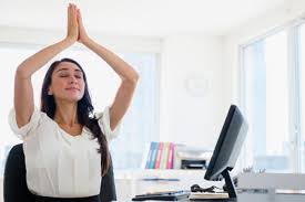 Desk Yoga Poses 7 Yoga Poses You Can Do Using A Chair Yoga