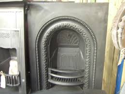 early victorian cast iron arched insert 041ai old fireplaces