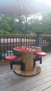 Pallet Patio Furniture Pinterest - diy outdoor checker table from electric spool diy pinterest