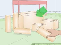 Blueprints To Build A Toy Box by How To Build A Castle Out Of Cardboard Boxes With Pictures