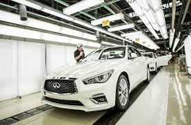 2018 infiniti q50 rolls off the line in japan automobile magazine