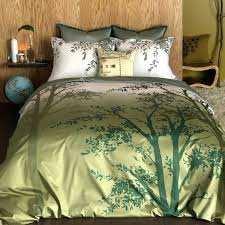 amelie twin duvet cover set find your way in the earthy green