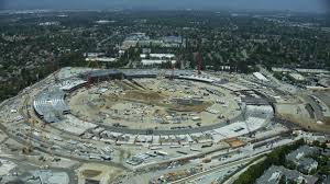 hd helicopter footage of u0027spaceship u0027 apple campus 2 under
