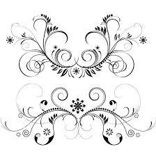 floral ornament vector set free vectors ui