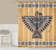 Shower Curtain Contemporary Tribal Shower Curtain Contemporary Bathroom Codysloft