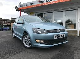 blue volkswagen used volkswagen polo blue for sale motors co uk