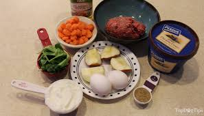 easy raw dog food recipe with ground beef and chicken liver top