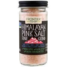 himalayan salt l 100 lbs frontier natural products pink salt himalayan fine grind 4 48 oz