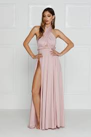 what to wear with a light pink dress catalina luxe dusty pink with high slits made from ultra soft satin