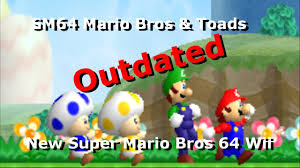 outdated sm64 mario bros u0026 toads nsmbw hack preview character