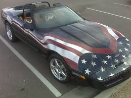 Corvette Flags Corvette Turned Into An American Flag Wave On U2026wave On