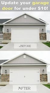 Design Ideas For Garage Door Makeover 17 Easy And Cheap Curb Appeal Ideas Anyone Can Do On A Budget