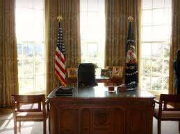 Desk In Oval Office by George W Bush Presidential Library And Museum Travels In America