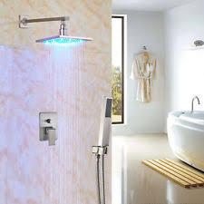 Rozin Led Light Spray Kitchen by Rain Shower Head Brushed Nickel Ebay