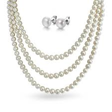 long pearls necklace images Cultured freshwater pearl necklace 8 9mm 160 cm long rope a jpg