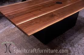 live edge hardwood slab conference tables and desk tops