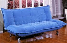 212 Modern Furniture by Sky Blue Modern Sofa Bed In Microfiber Upholstery