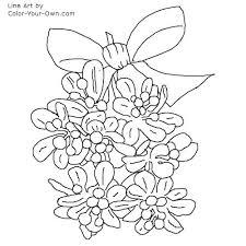christmas mistletoe coloring page