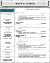 Resume Work History Examples by Terrific Healthcare Medical Chronologically Resume Summary With