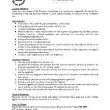resume for a daycare job care worker resume pretty childcare istant job description images