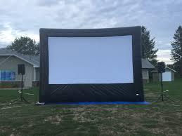 inflatable movie screen rentals montreal blow up screen rentals