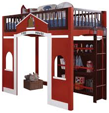 Build Twin Bunk Beds by Modern Stylish Espresso Red Twin Loft Bed Built In Ladder Storage