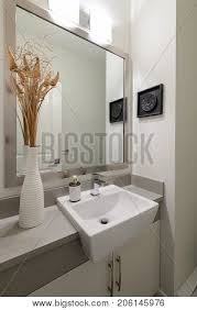 bright bathroom interior with clean modern clean bright white bathroom image photo bigstock
