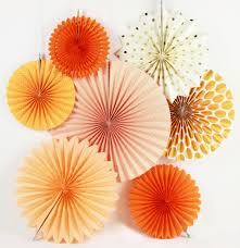 fan fan picture more detailed picture about new orange set paper