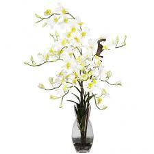 Dendrobium Orchid Silk Dendrobium Orchid Arrangement In Vase 1190