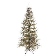 7 pre lit slim warsaw twig artificial tree clear