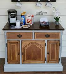 Coffee Bar Table with Repurposed Buffet Into A Coffee Bar Hometalk