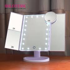 tri fold mirror with lights aliexpress com buy tri fold adjustable 21 led lights mirror 1x 2x