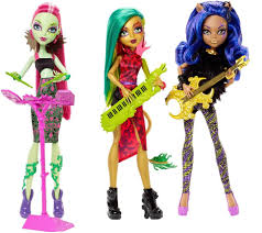 monster high fierce rockers 3 pack toys