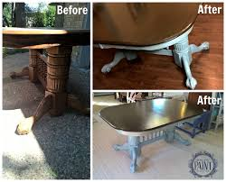 Home Decor Before And After Photos For Love Of The Paint Before And After Double Pedestal Dining Table