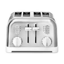 Delonghi Icona 4 Slice Toaster Black Cuisinart 4 Slice White Toaster Cpt 180w The Home Depot