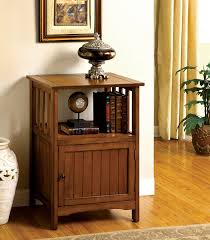 mission style furniture hutch with glass front doors and drawers