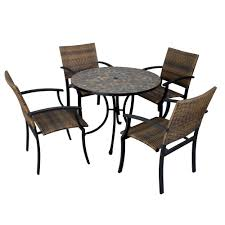 Newport Wicker Patio Furniture Tile Top Patio Table Sets Patio Decoration