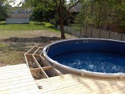 deck designs for above ground swimming pools above ground pool