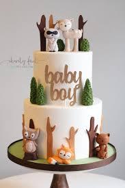 woodland creatures baby shower woodland animal themed baby shower cake charity fent cake design