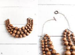 wood beads necklace images Chunky wooden bead statement necklace a beautiful mess