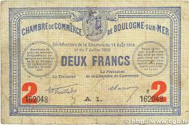 chambre de commerce boulogne sur mer 2 francs regionalism and miscellaneous boulogne sur mer 1914