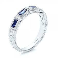 kirk kara wedding band blue sapphire wedding band with matching engagement ring kirk kara