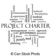 stock photography of project charter circular word concept
