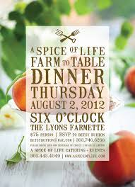 farm to table dinner august farm to table dinner tickets are now on sale a spice of